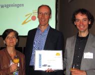 vlnr: Jacqueline Oosterwijk, Lex Hoefsloot en Rogier Coenraads
